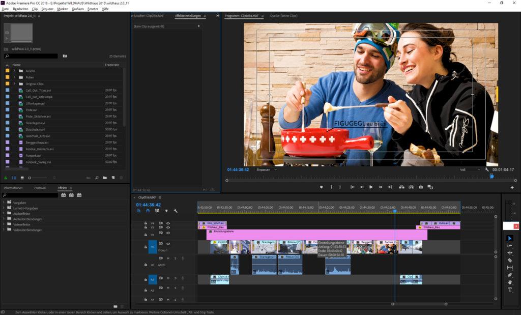 Videobearbeitung im Videostudio