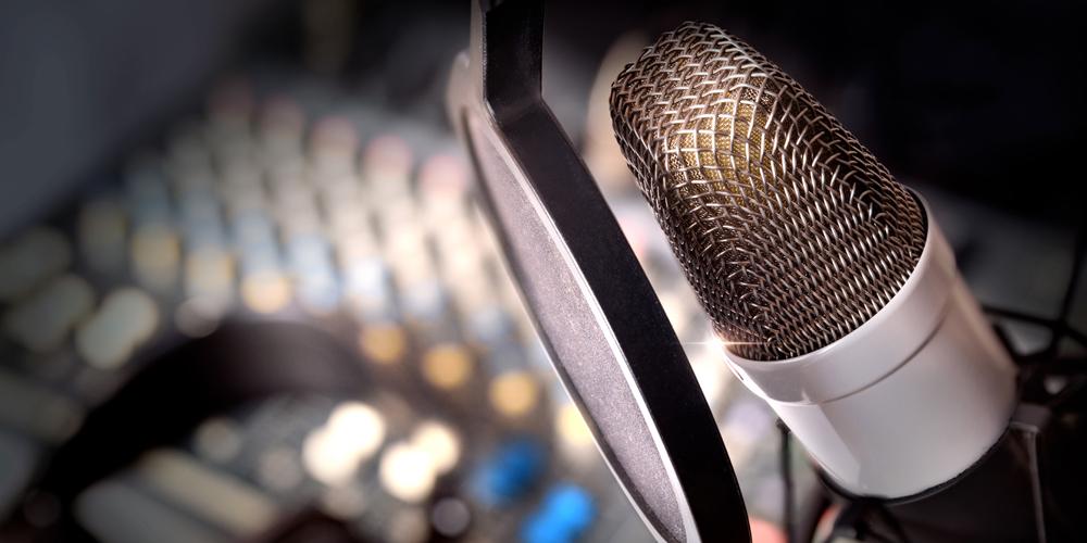 Aufnahme eines Corporate Sound mit Mikrofon